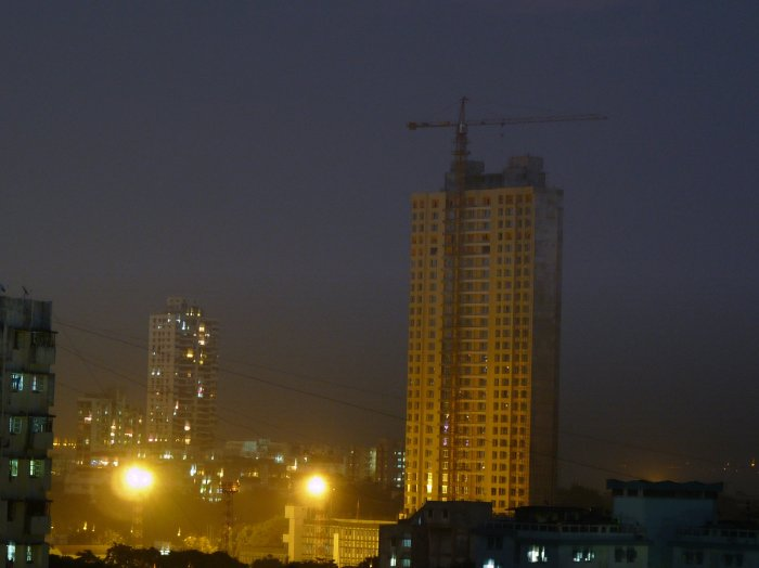The growing Adarsh building